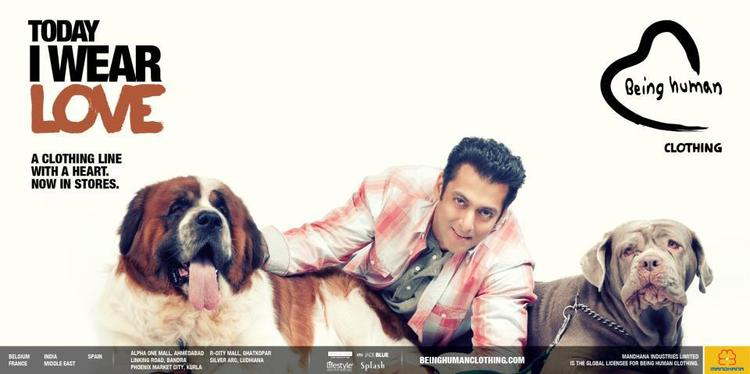 Salman Khan With Dogs Nice Photo Shoot For Being Human