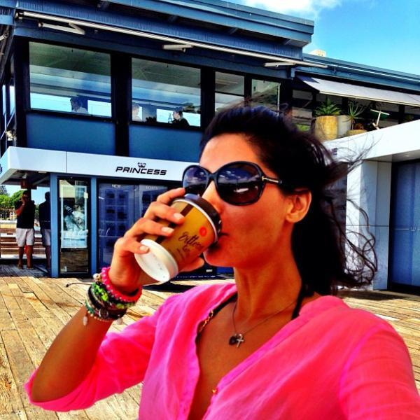 Nargis Fakhri With Coffee Nice Still