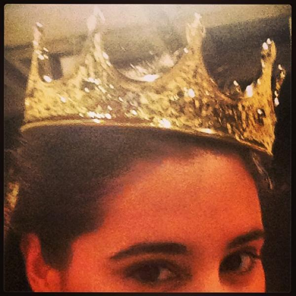 Nargis Fakhri Wearing Crown Nice Look Still