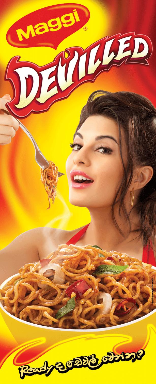 Jacqueline Fernandez Print Ads For Maggi Devilled Noodles