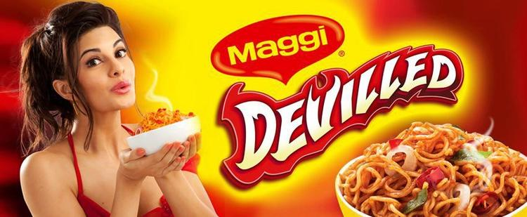 Jacqueline Fernandez Sizzling Look For Maggi Devilled Print Ad