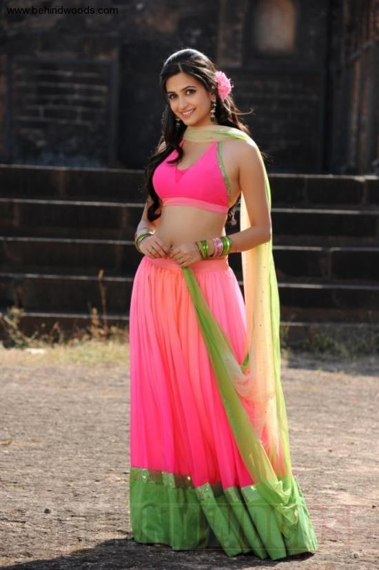 Kriti Trendy Looking Photo Still In A Pink Color Lehenga