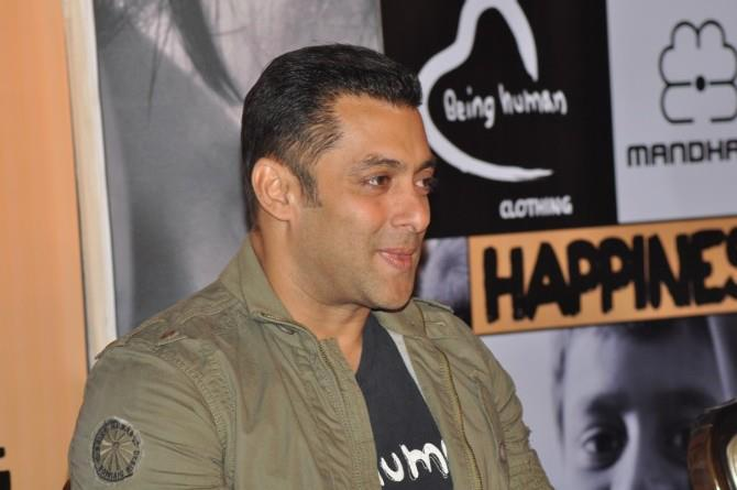Salman Khan Cute Smiling Photo Clicked At Being Human Store Launch