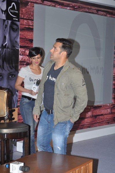 Salman Khan Make A Look On The Poster At Being Human Store