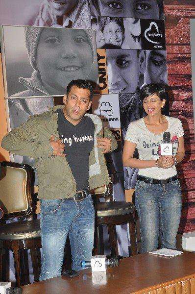 Salman Khan Posed For Camera At Being Human Store Launch
