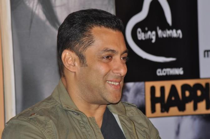 Salman Khan Smiling Photo Clicked At Being Human Store Launch