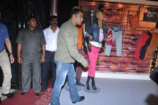 Salman Khan Spotted At Being Human Store Launch