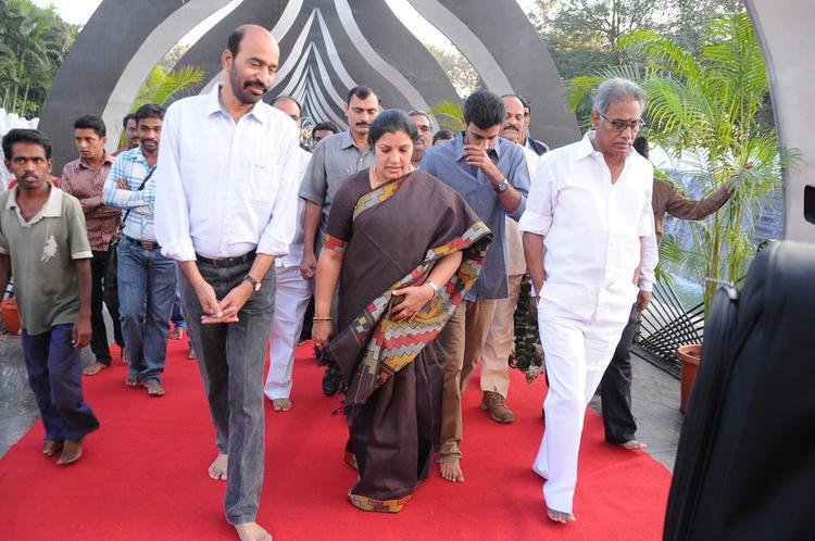 Celebs Walks On At NTR Ghat
