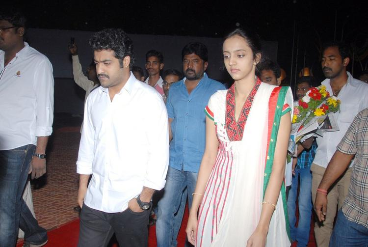 Jr. NTR And Wife Lakshmi Pranathi Spotted At NTR Ghat