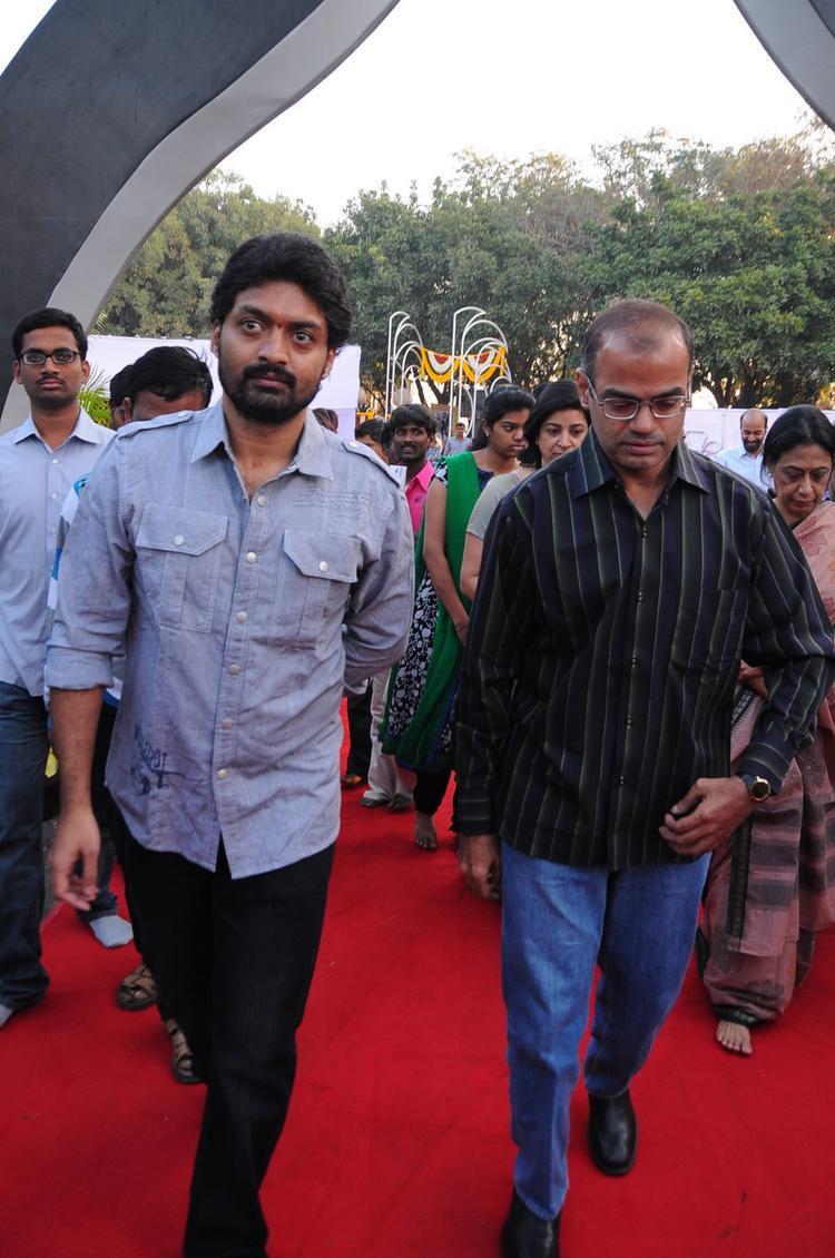 Kalyan Ram Walks On Red Carpet At NTR Ghat
