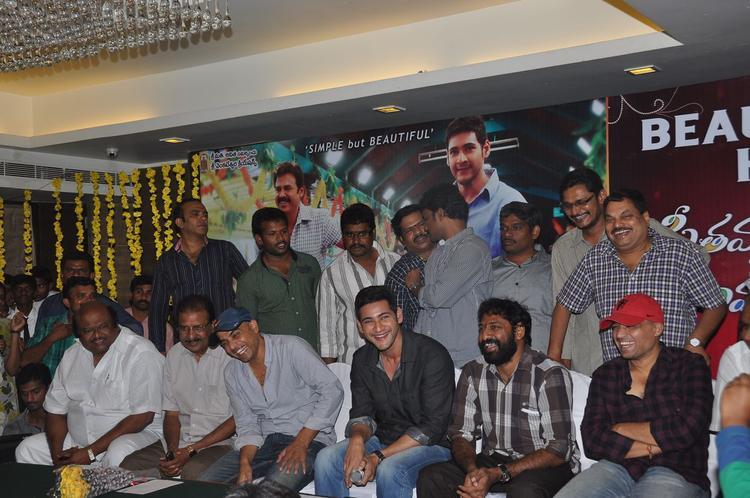 Mahesh Babu Posed At SVSC Success Meet
