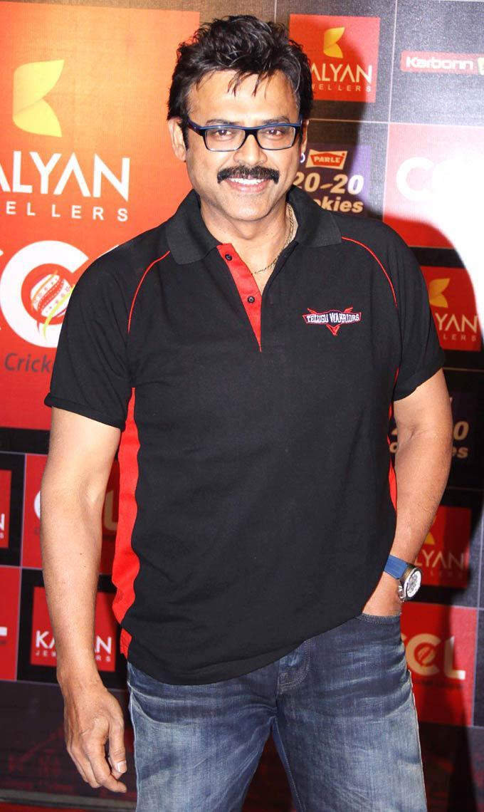 Daggubati Venkatesh Flashes Smile At The CCL Season 3 Red Carpet