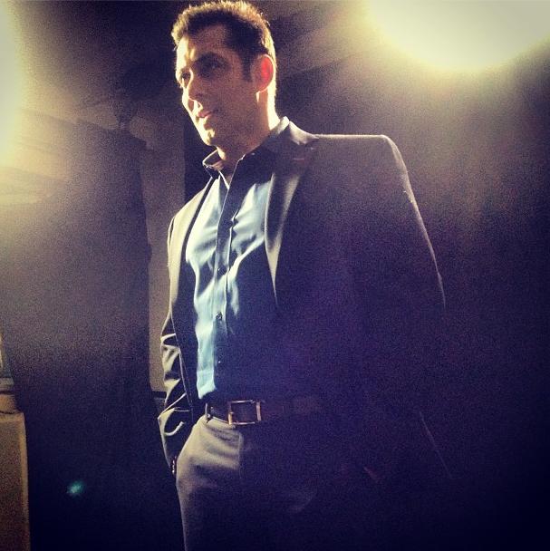 Salman Khan Cool Pose At CCL Glam Night 2013