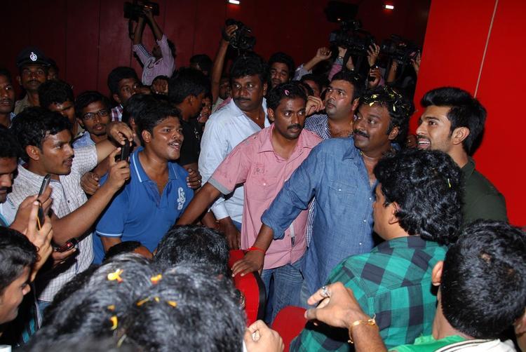 Ram And V. V. Vinayak Walk On To Attend The Nayak Movie Success Tour