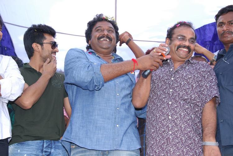 Ram,V. V. Vinayak And D.V.V. Danayya Enjoyed At Nayak Movie Success Tour