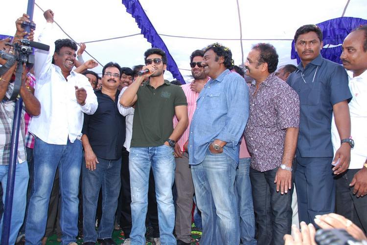 Ram,V. V. Vinayak And D.V.V. Danayya Graced At Nayak Movie Success Tour