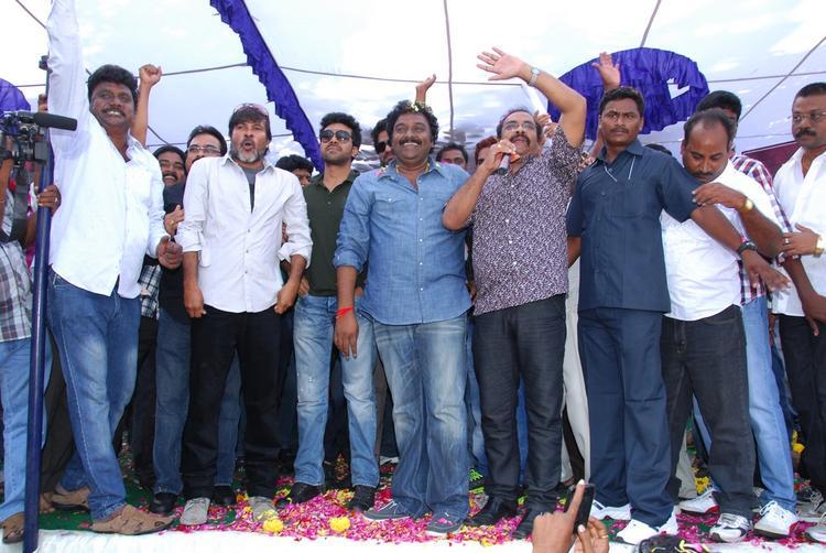 Ram,V. V. Vinayak,D.V.V. Danayya And Chota K. Naidu At Nayak Movie Success Tour
