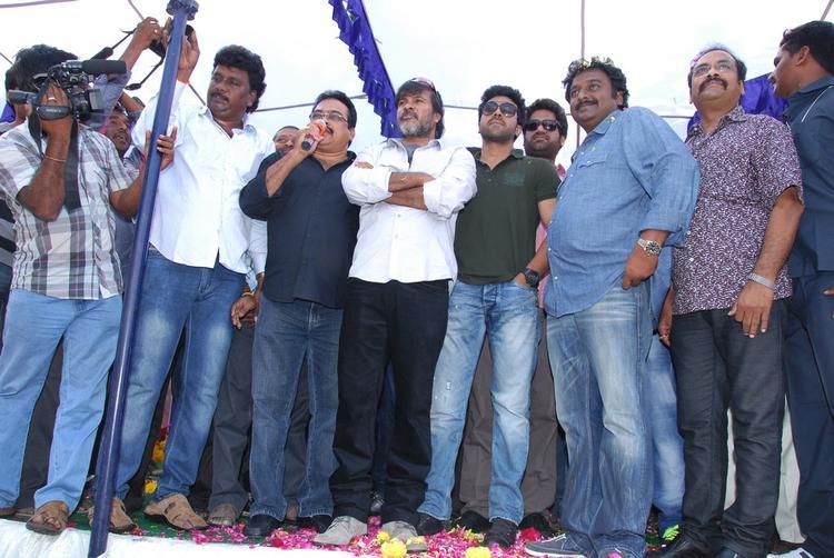 Ram,V. V. Vinayak,D.V.V. Danayya And Chota K. Naidu Present At Nayak Movie Success Tour
