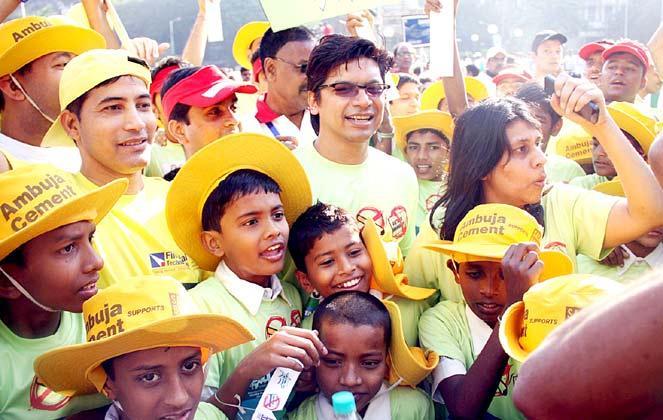 Shaan Spotted At Mumbai Marathon