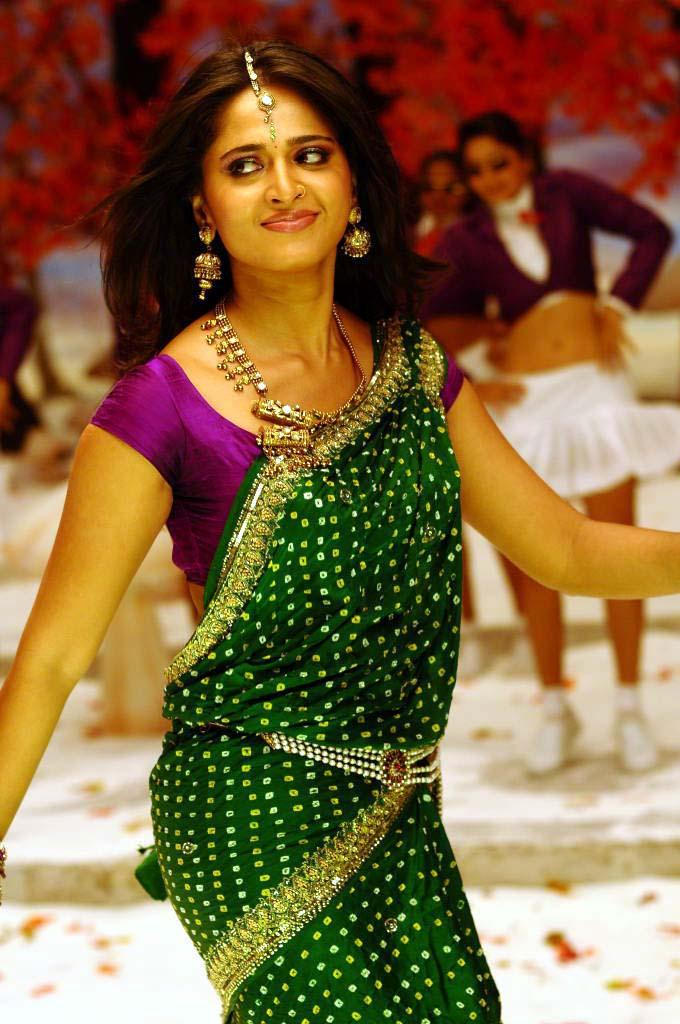 Anushka Shetty In Saree Good looking Still