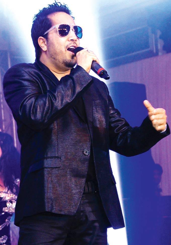 Mika Singh Performs A Song At Sangeet Ceremony Of Gayatri And Arjun Hitkari