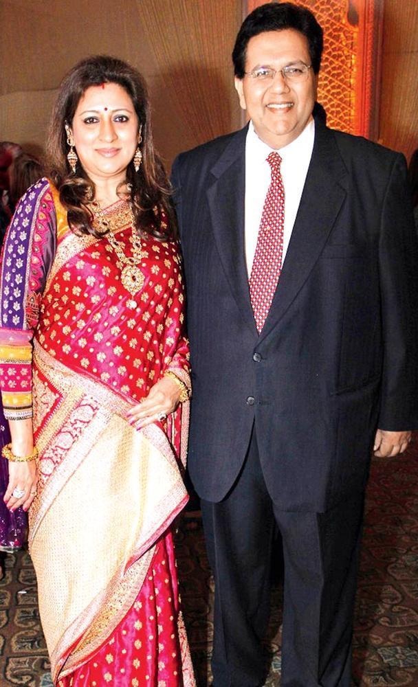 Shalini And Dilip Posed For Camera At Sangeet Ceremony Of Gayatri And Arjun Hitkari