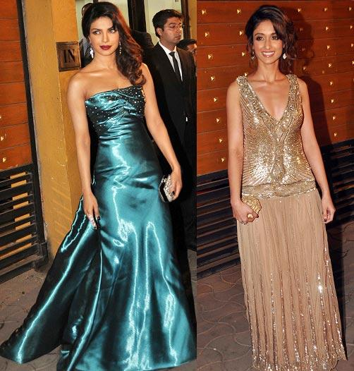 Prinyanka And Ileana Looked Gorgeous In Designer Gown At Filmfare Awards 2013