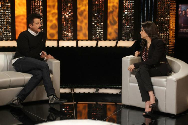 Anil Kapoor On The Front Row With Anupama Chopra