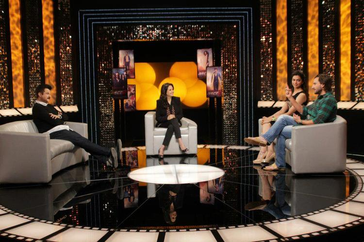 Saif,Deepika And Anil During On The Front Row With Anupama