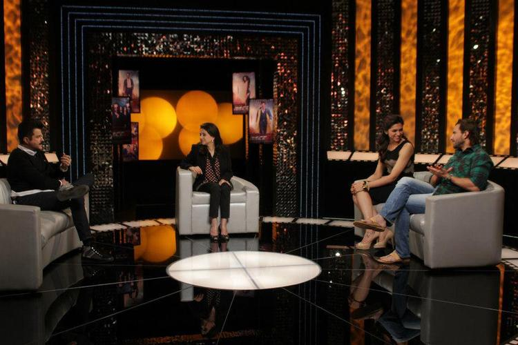 Saif,Deepika,Anil Discussion With Anupama On The Front Row Event