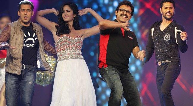 Katrina,Salman,Prabhu And Venkatesh Rocked At CCL 3 Glam Night Party