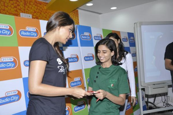 Bipasha Basu At Radio City 91.1 For Promoting Breakfree Fitness DVD