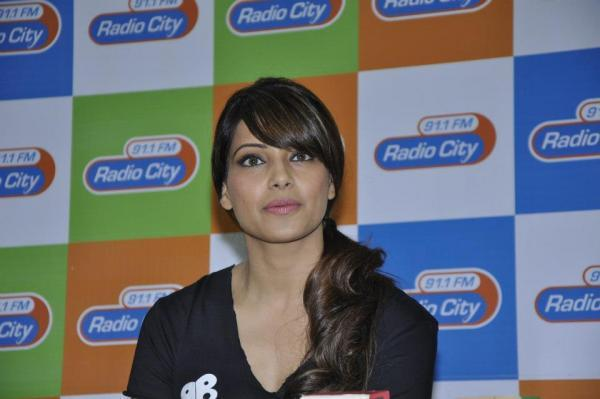 Bipasha Basu Spotted At Radio City 91.1 For Promoting Fitness Dvd