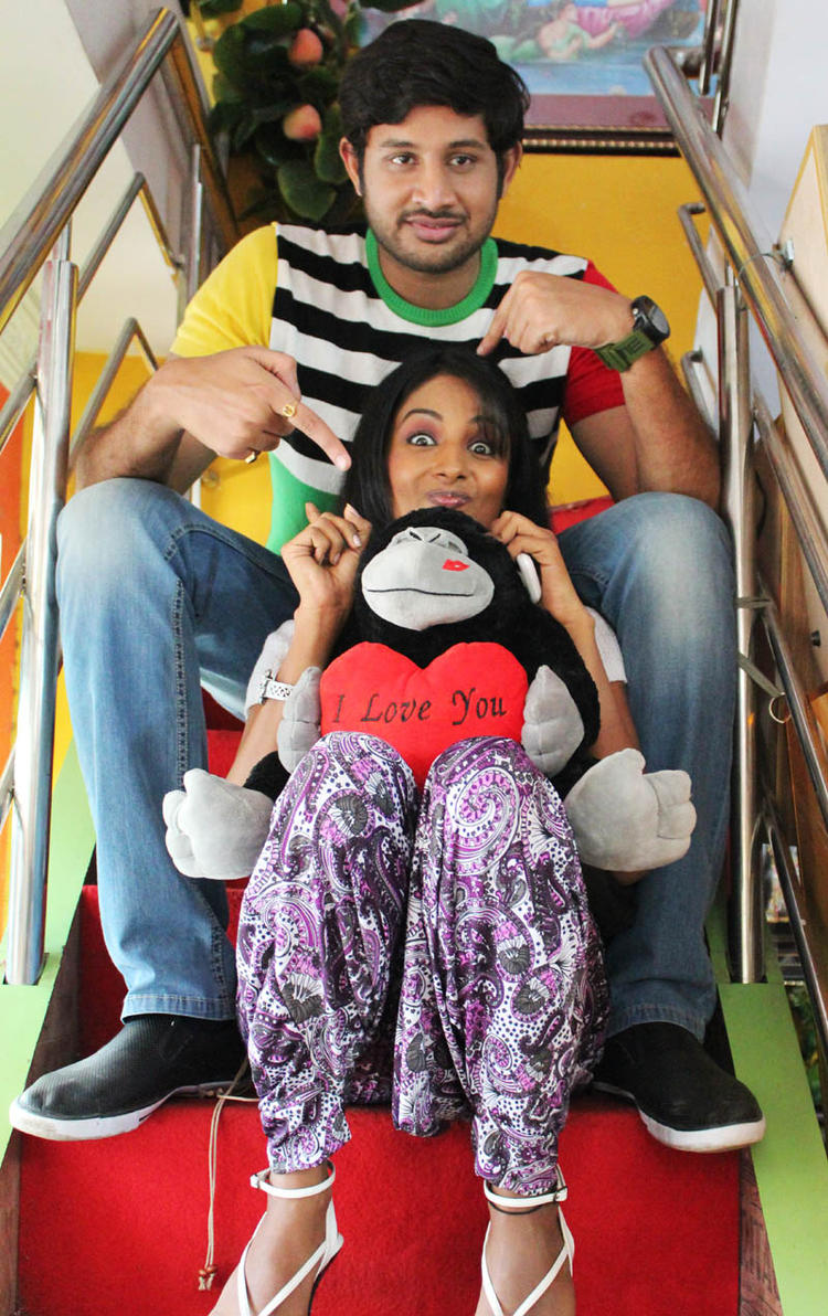 Sreeram And Amitha Cute Acting Expression From Movie Chemistry