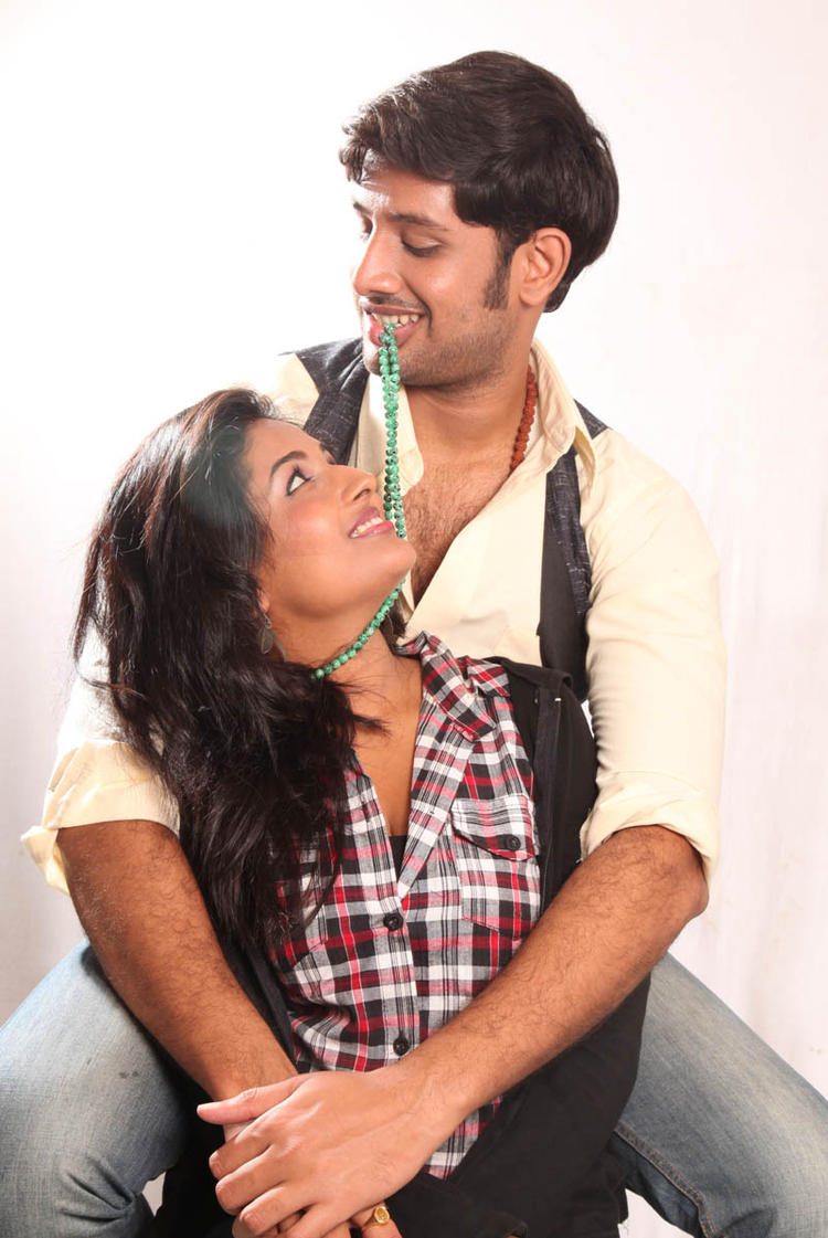 Sreeram And Amitha Smiling Photo From Movie Chemistry