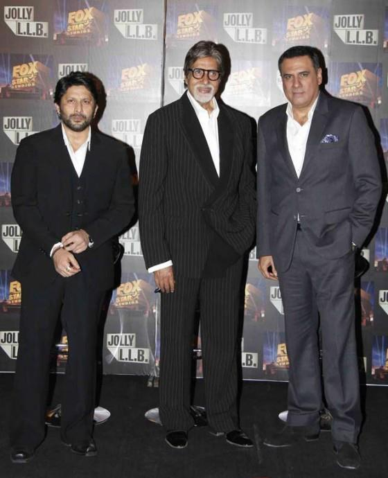 Amitabh,Arshad And Boman Spotted At The Trailor Launch Of Bollywood Film Jolly LLB