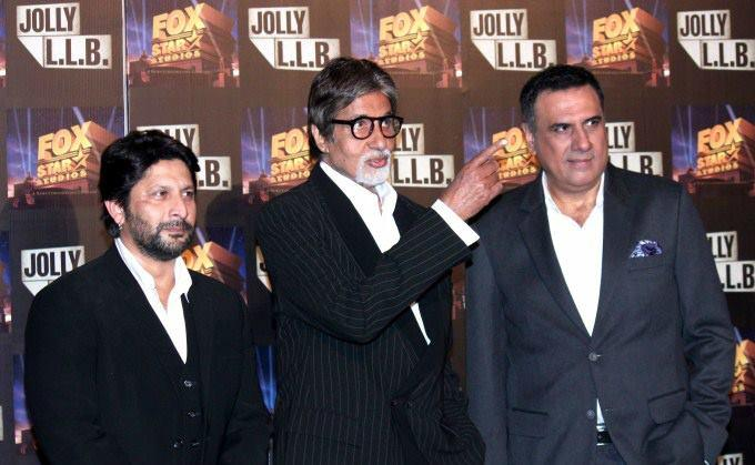 Big B,Arshad And Boman Graced At The Trailor Launch Of Bollywood Film Jolly LLB