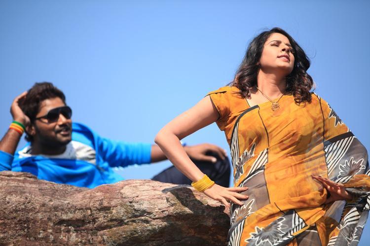 Saradh And Shravya Nice Photo Still From Telugu Movie Eyy
