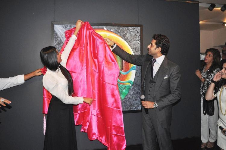 Abhishek And Radhika Unviel The Art Exhibition Of Radhika Goenka