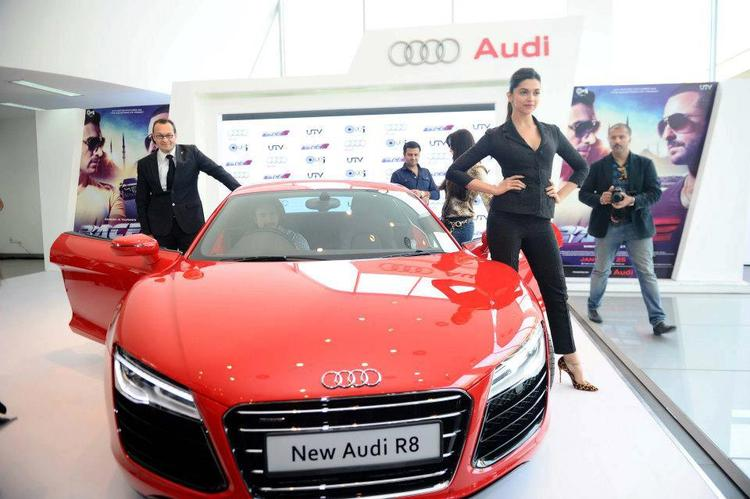 Deepika Padukone Strikes A Pose With Audi R8 At Supercar Audi R8 Launch Event