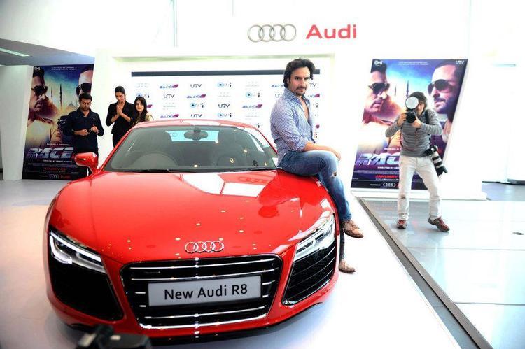 Saif Ali Khan Clicked At Supercar Audi R8 Launch Event
