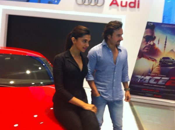 Saif And Deepika Graced At The Launch Of New Audi R8