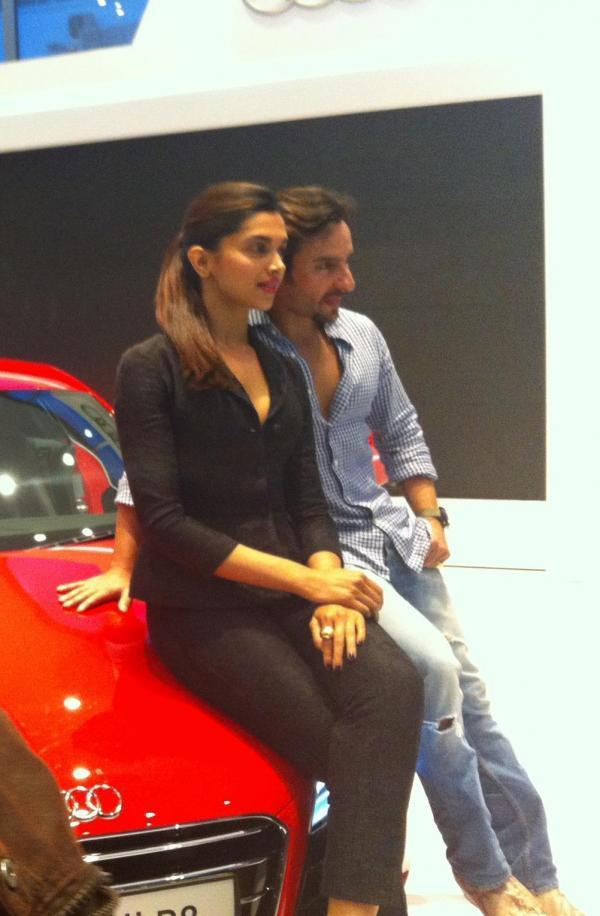 Saif And Deepika Unveils At The Launch Of New Audi R8