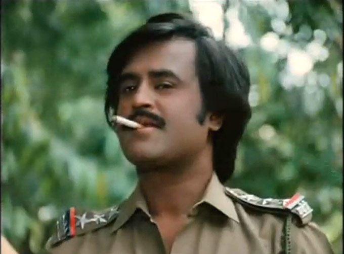 Rajnikanth Taking Cigarette Cool Look Still