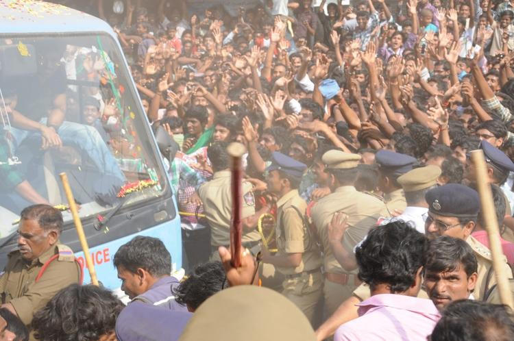 Nayak Movie Success Tour Photo Still At Rajahmundry