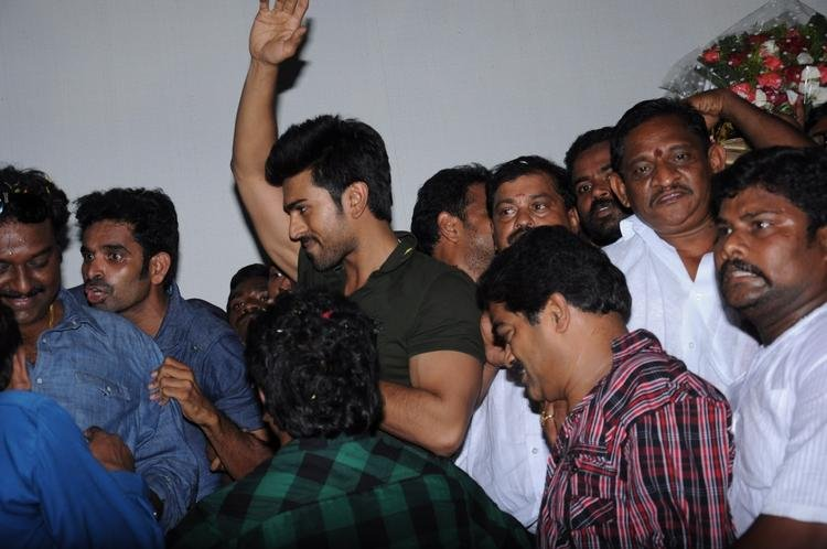 Ram Charan Teja Spotted At Nayak Movie Success Tour
