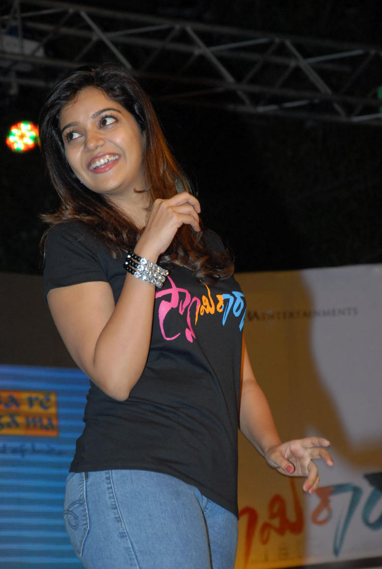Swati Reddy Smiling Still At Swamy Ra Ra Audio Release Function