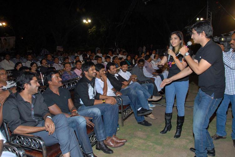 Swati,Allari Naresh,Manchu Manoj And Nikhil Snapped At Swamy Ra Ra Audio Release Function