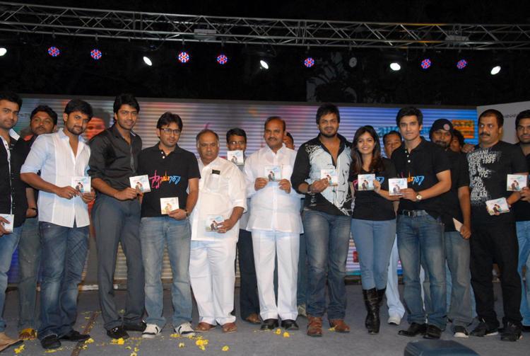Swati,Allari Naresh,Manoj Kumar,B.V.S.N. Prasad,Nani And Nikhil Attend The Swamy Ra Ra Audio Release Function