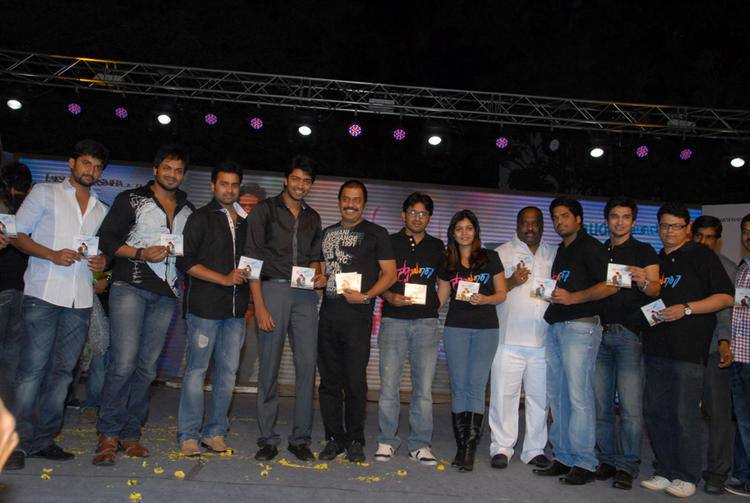 Swati,Allari Naresh,Manoj,Nani And Nikhil During The Swamy Ra Ra Audio Release Function